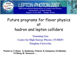 Future programs for flavor physics at hadron and lepton colliders