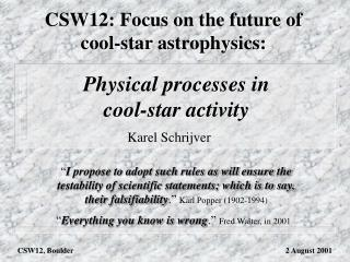 Physical processes in cool-star activity