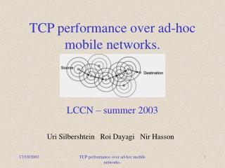 TCP performance over ad-hoc mobile networks.