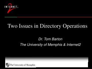 Two Issues in Directory Operations