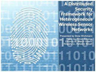A Distributed Security Framework for Heterogeneous Wireless Sensor Networks