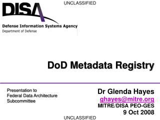 DoD Metadata Registry