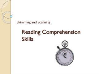 Reading Comprehension Skills