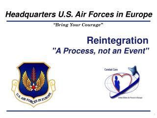 "Reintegration ""A Process, not an Event"""