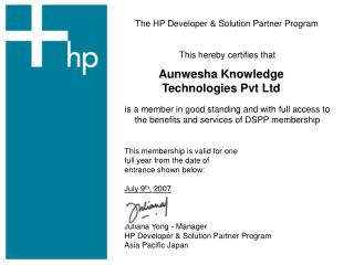 The HP Developer & Solution Partner Program