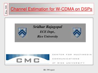 Channel Estimation for W-CDMA on DSPs