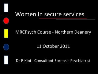 Women in secure services
