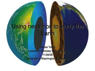 Using neutrinos to study the Earth