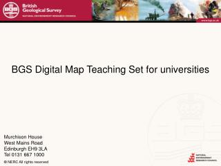 BGS Digital Map Teaching Set for universities