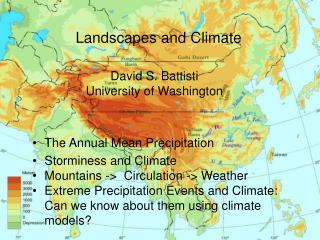 Landscapes and Climate