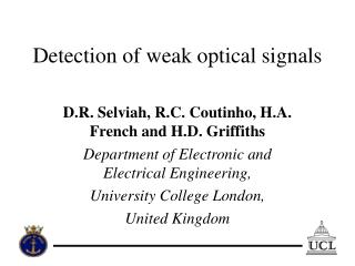 Detection of weak optical signals