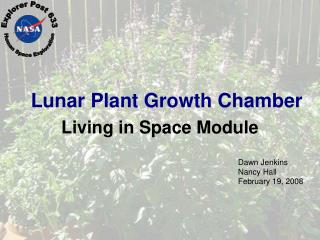 Lunar Plant Growth Chamber