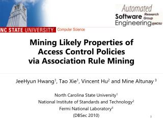 Mining Likely Properties of  Access Control Policies  via Association Rule Mining