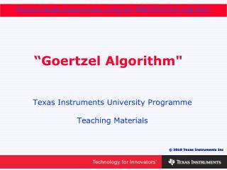 """""""Goertzel Algorithm"""""""