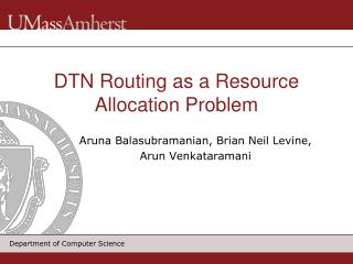 DTN Routing as a Resource Allocation Problem