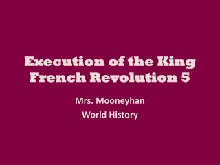 Execution of the King French Revolution 5