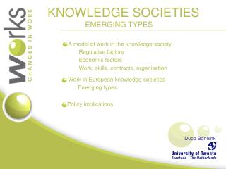 KNOWLEDGE SOCIETIES