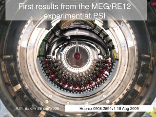 First results from the MEG/RE12 experiment at PSI