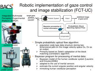 Robotic implementation of gaze control and image stabilization (FCT-UC)
