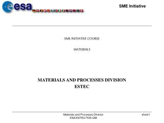 SME INITIATIVE COURSE MATERIALS