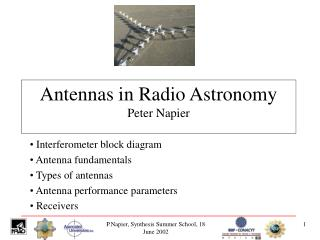 Antennas in Radio Astronomy Peter Napier