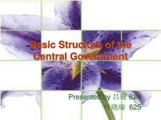 Basic Structure of the  Central Government
