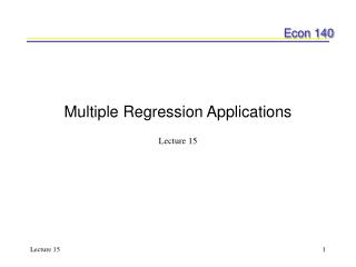 Multiple Regression Applications