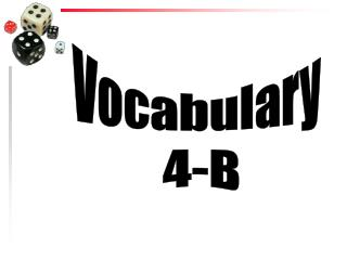 Vocabulary  4-B