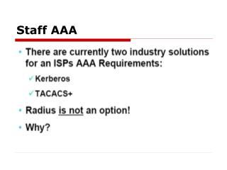 Staff AAA