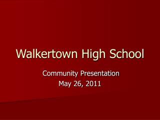 Walkertown High School