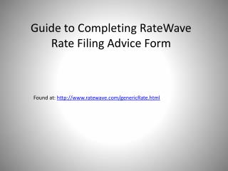 Found at:  ratewave/genericRate.html