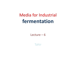 Chapter 6 Microbial Nutrition and Media