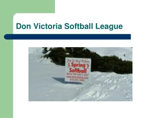 Don Victoria Softball League