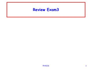 Review Exam3