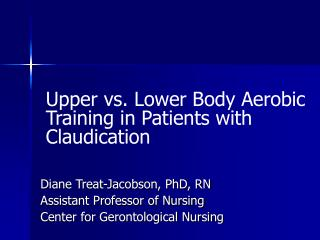 Upper vs. Lower Body Aerobic Training in Patients with Claudication