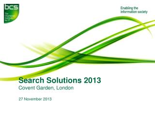 Search Solutions 2013