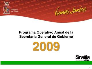 Programa Operativo Anual de la Secretaría General de Gobierno  2009
