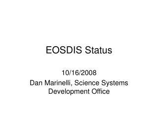 EOSDIS Status