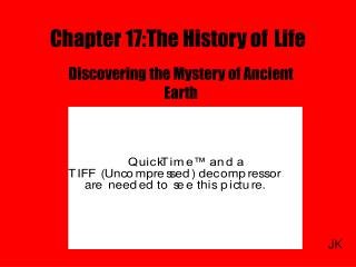 Chapter 17:The History of Life