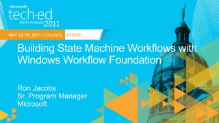 Building State Machine Workflows with Windows Workflow Foundation