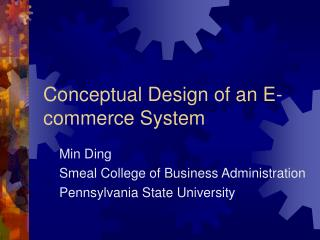 Conceptual Design of an E-commerce System