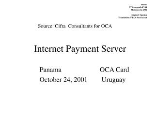 Internet Payment Server