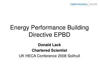 Energy Performance Building Directive EPBD