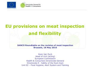 EU provisions on meat inspection and flexibility