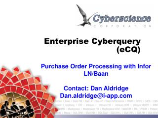 Enterprise Cyberquery  (eCQ)