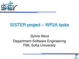 SISTER project – WP2A tasks