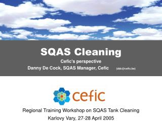 SQAS Cleaning Cefic's perspective Danny De Cock, SQAS Manager, Cefic       (ddc@ cefic.be)