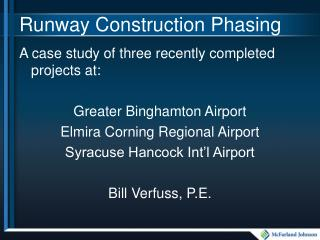 Runway Construction Phasing