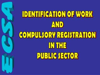 IDENTIFICATION OF WORK AND COMPULSORY REGISTRATION IN THE PUBLIC SECTOR