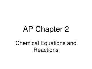 AP Chapter 2